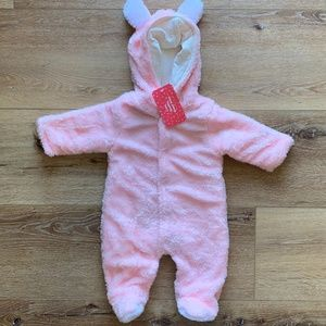 Girls 0-3 Pink Bunting Snow Suit NWT